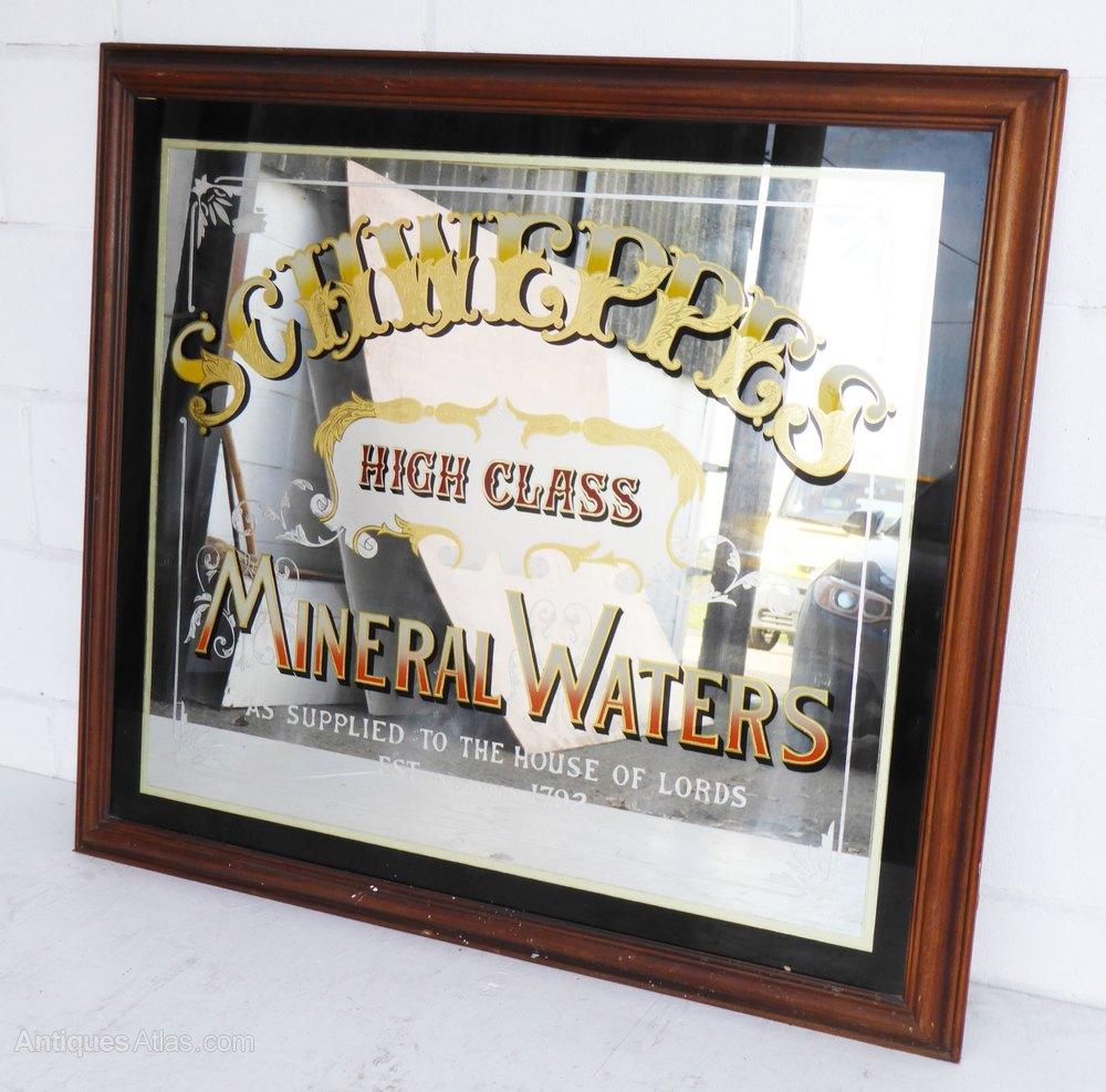 Antiques Atlas Schweppes Pub Mirror