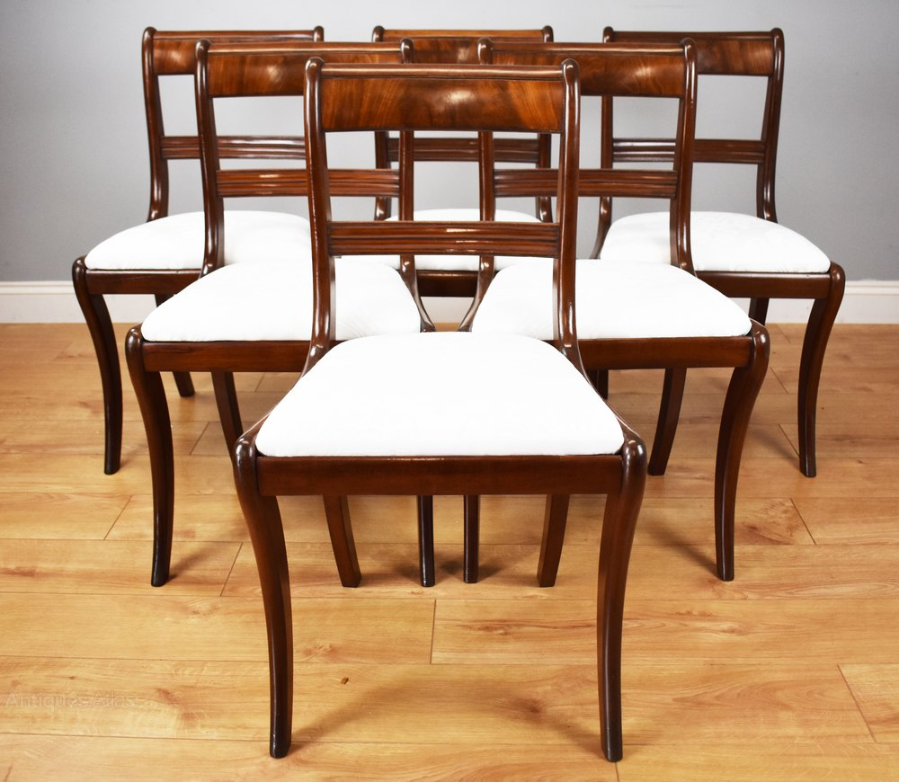 Set Of 6 Antique Mahogany Dining Chairs Antiques Atlas