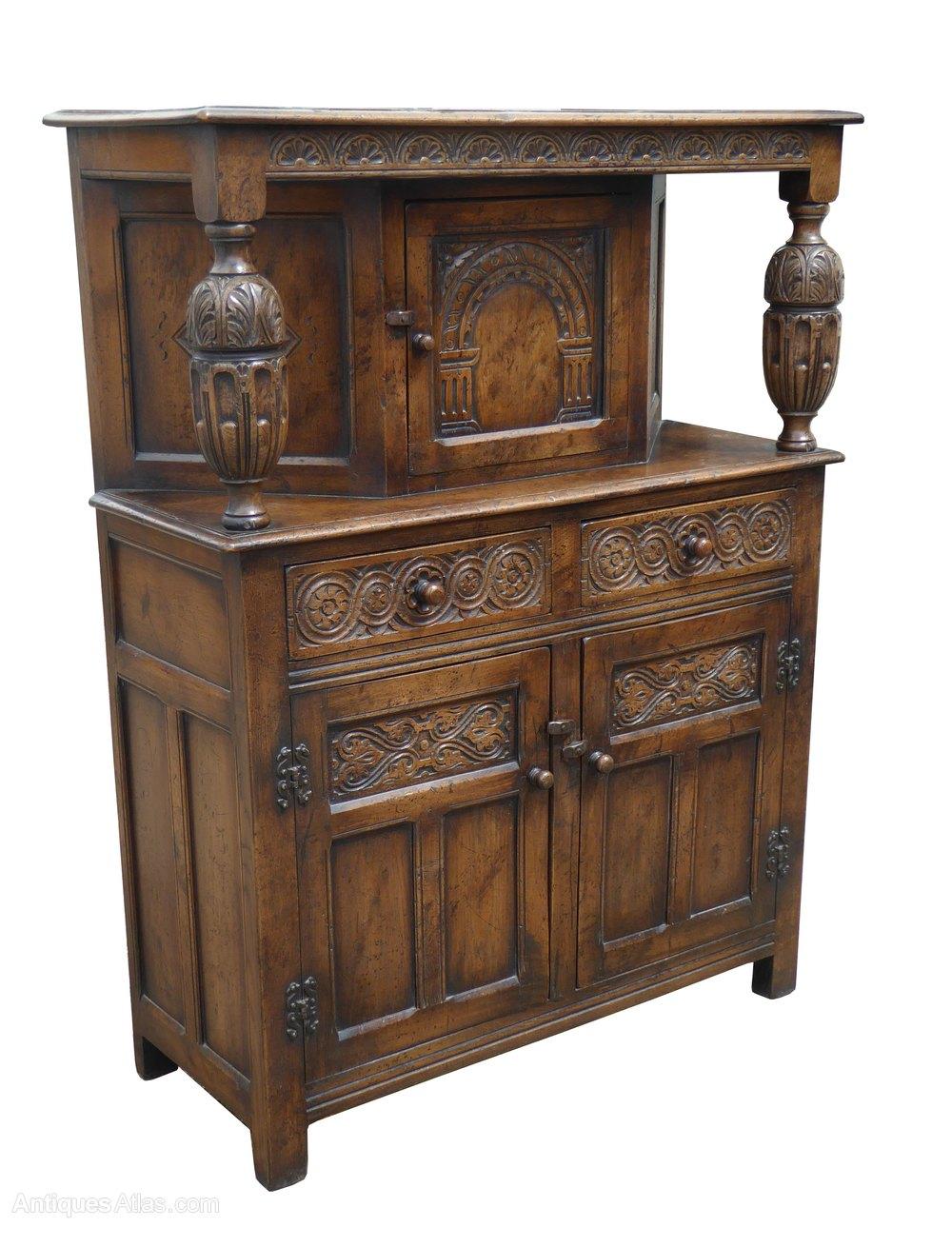 Solid Oak Court Cupboard by Titchmarsh & Goodwin ... - Antiques Atlas - Solid Oak Court Cupboard By Titchmarsh & Goodwin