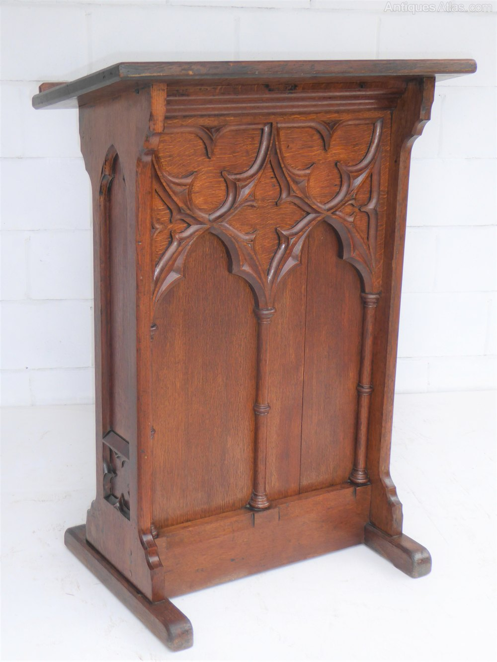 Victorian Gothic Lectern Stand Antiques Atlas