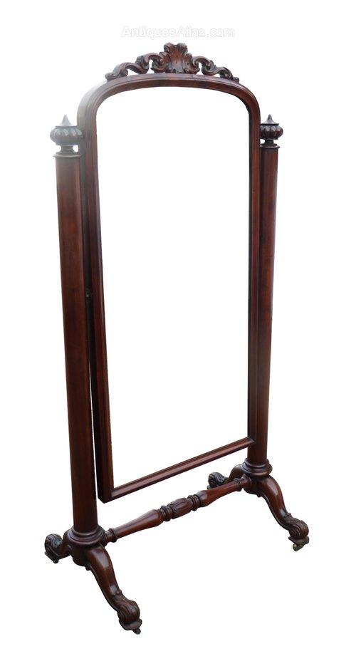 Victorian Gany Full Length Cheval Mirror