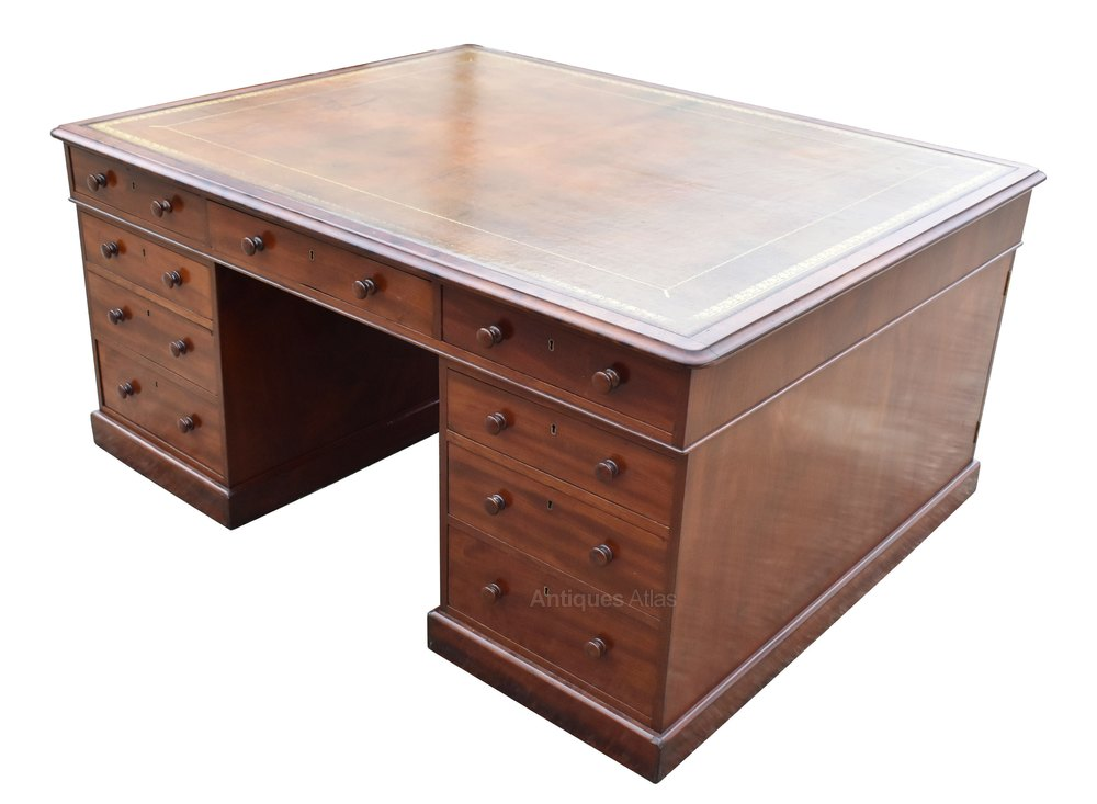 Victorian Mahogany Partners Desk Antique Partners Desks ... - Victorian Mahogany Partners Desk - Antiques Atlas