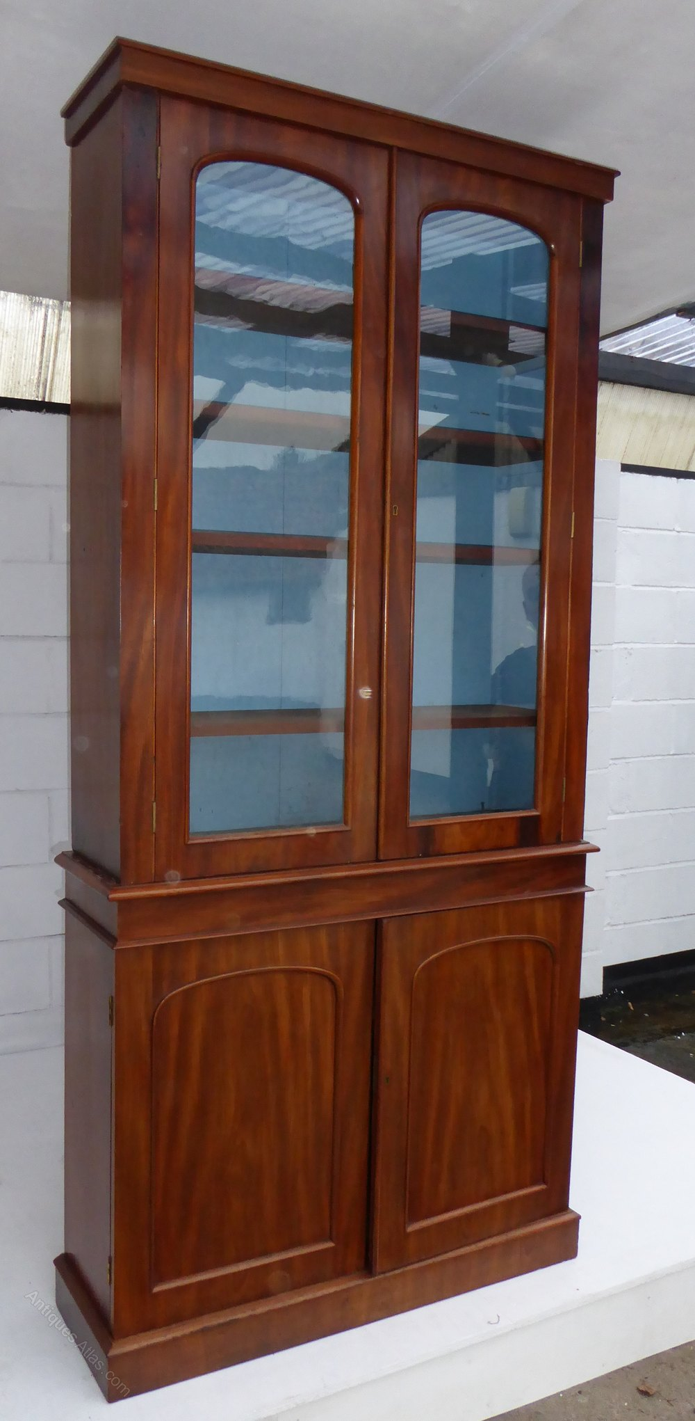 Victorian Two Height Mahogany Bookcase