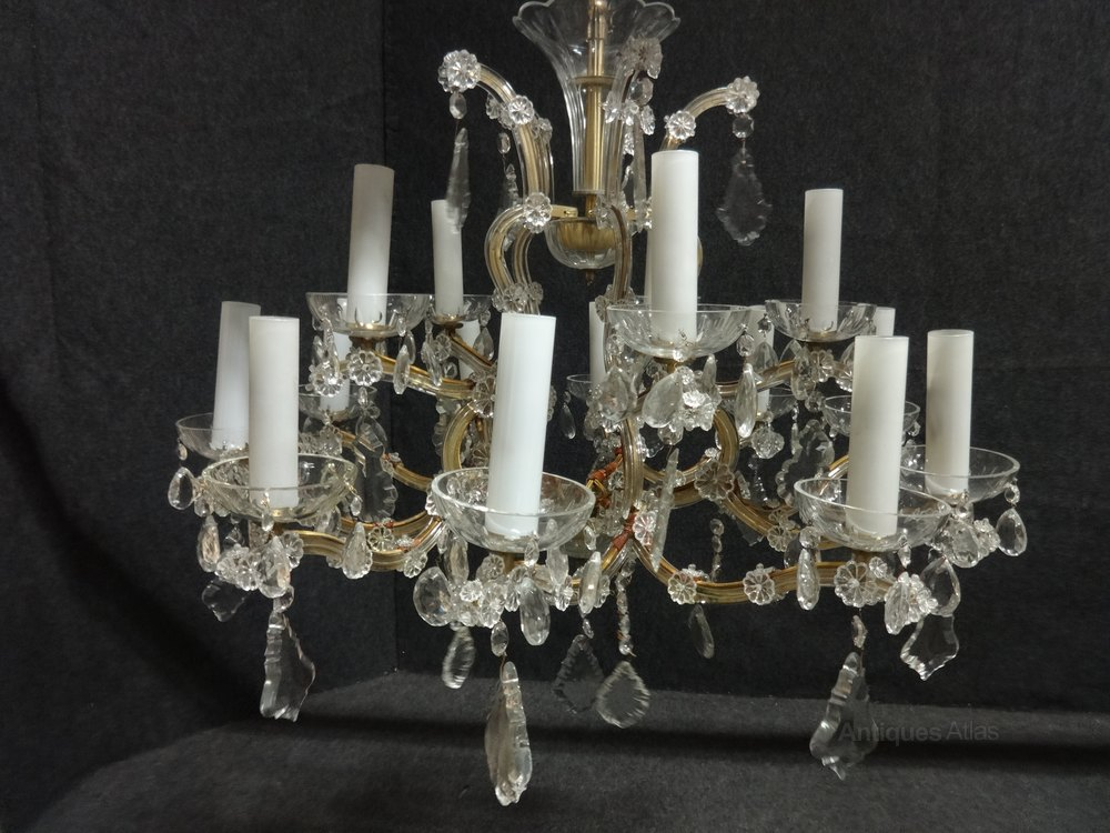 Antiques Atlas Fantastic Pair Cut Glass Chandeliers