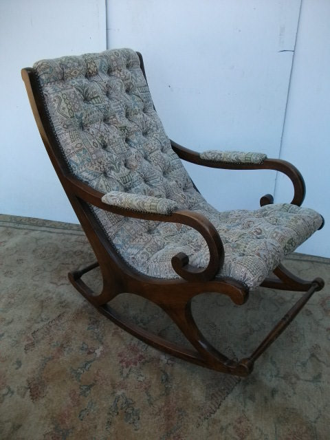 - Antiques Atlas - Mahogany Framed Rocking Chair