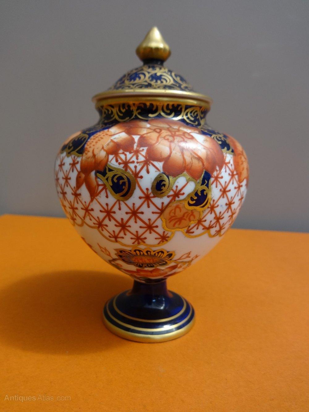 Antiques atlas miniature royal crown derby vase and cover photos miniature royal crown derby vase reviewsmspy