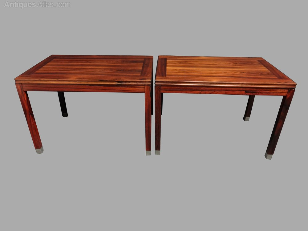 Pair Swedish Rosewood Coffee Tables ...