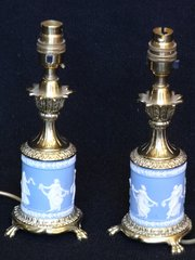 Pair Of Small Wedgwood Table Lamps C