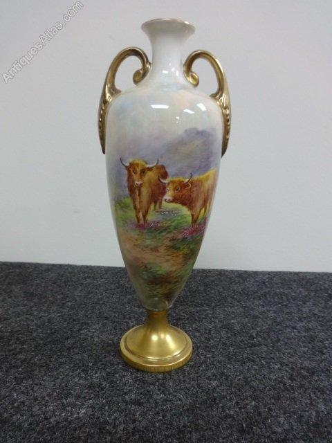 Antiques Atlas Royal Worcester Vase Signed E Townsend