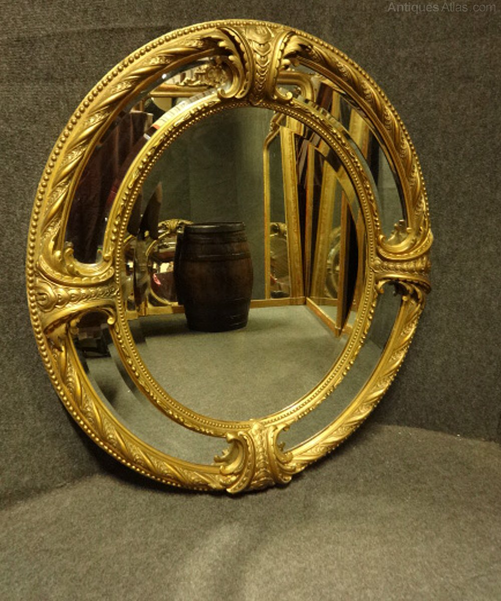 Antiques atlas superb oval marginal gilt mirror for What is a gilt mirror