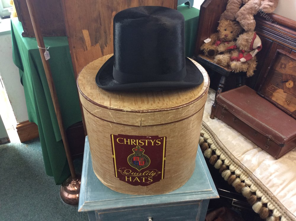 Antiques Atlas Vintage Silk Top Hat With Box