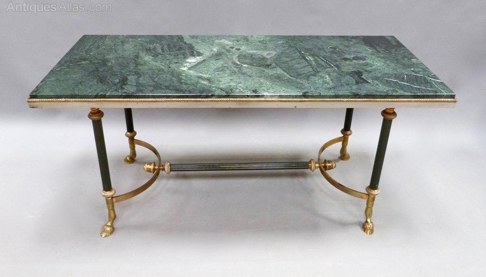 A French Marble And Brass Coffee Table ...