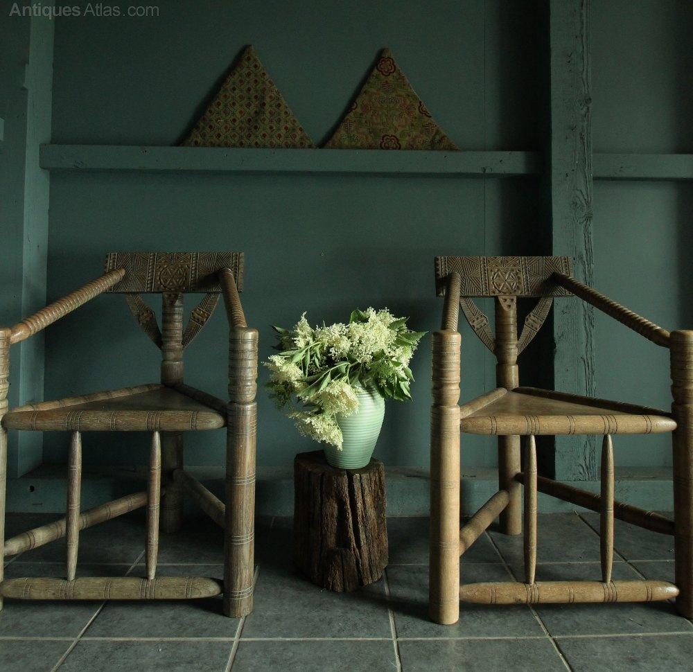 Leather Sofas Preston Lancashire: Unusual Oak Bodgers Sofa And Chairs .