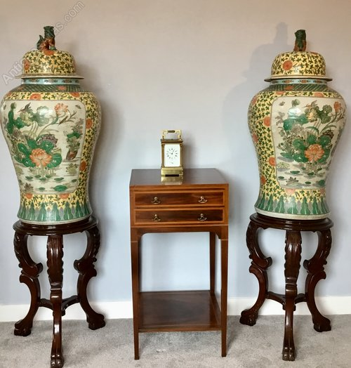 Antiques Atlas Pair Of Oriental Vases And Covers