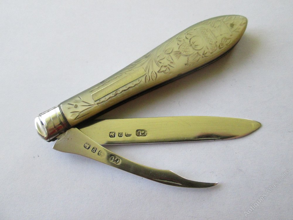 Antiques Atlas - Victorian Silver Fruit Knife Birmingham 1895