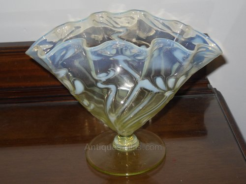 Antiques Atlas Opalinevaseline Glass Vase John Walsh Walsh