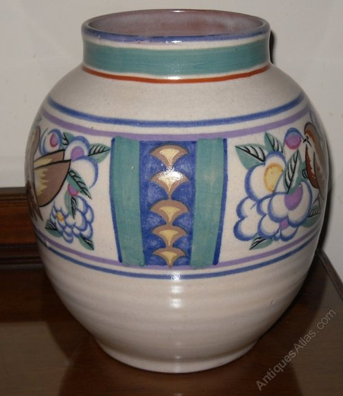 Antiques Atlas Poole Pottery Large Art Deco Vase