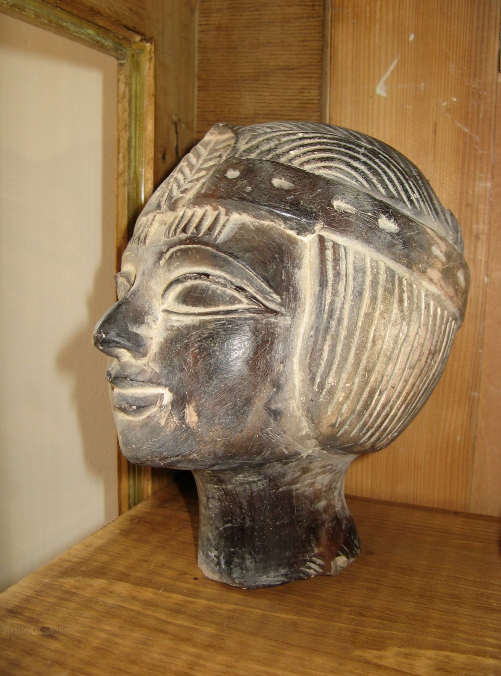 Antiques atlas egyptian princess soapstone sculpture head