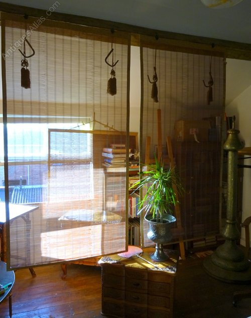 Antiques Atlas Pair C 1900 Sudare Japanese Bamboo Blinds Buddhist