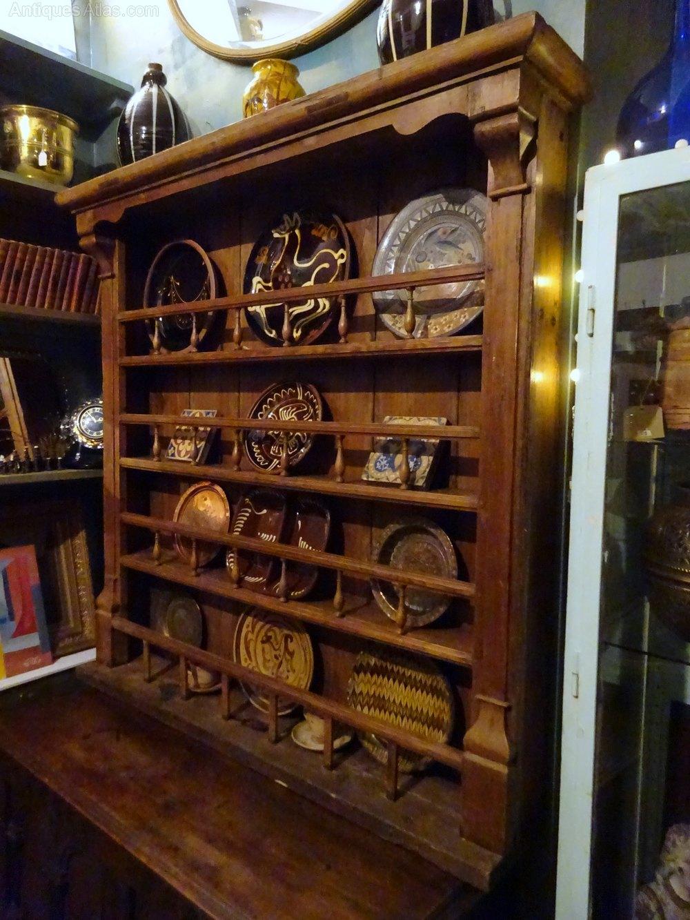 Victorian Pine Dresser Top - Plate Rack Antique Dresser Tops Country Kitchen Dresser ... & Victorian Pine Dresser Top - Plate Rack - Antiques Atlas