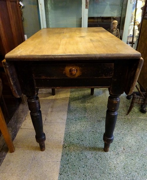 Victorian Scrub Top Drop Leaf Pine Dining Table Antiques Atlas