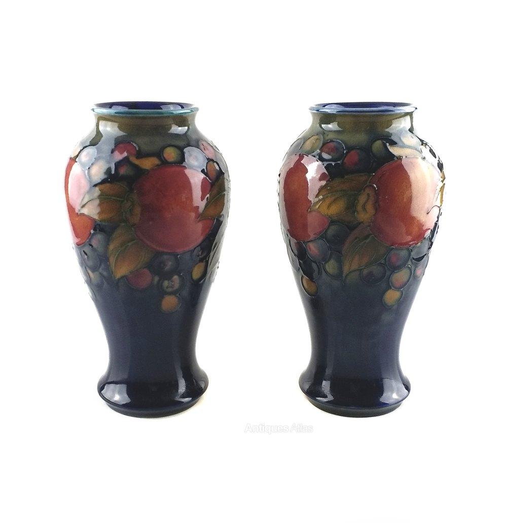 Antiques Atlas Pair Of William Moorcroft Vases