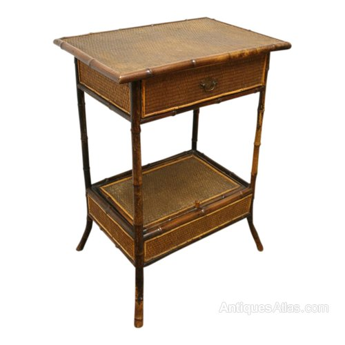 Bamboo And Rattan Side Table Antiques Atlas