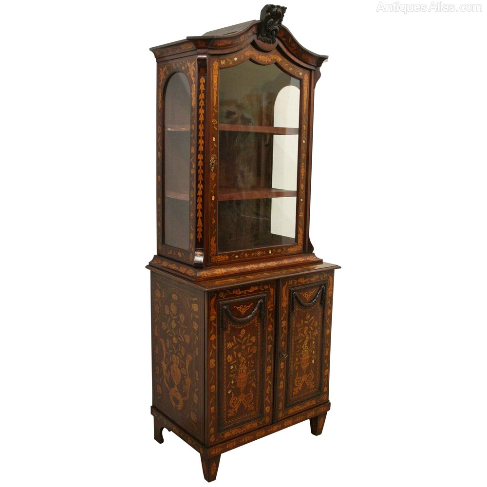Dutch marquetry display cabinet antiques atlas for Antique display cabinet