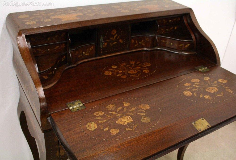 Dutch Marquetry Ladies Writing Desk Bureau Antiques Atlas