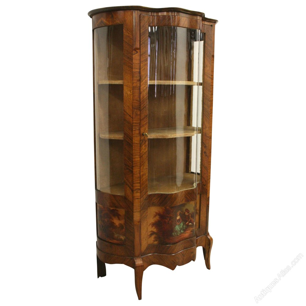 French Louis XV Style Kingwood Display Cabinet