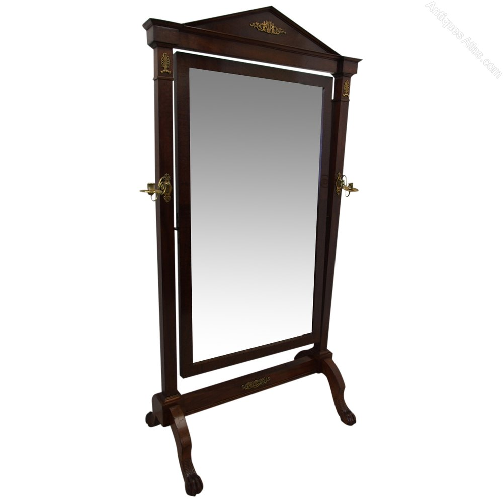Antiques atlas french mahogany cheval mirror for Cheval mirror