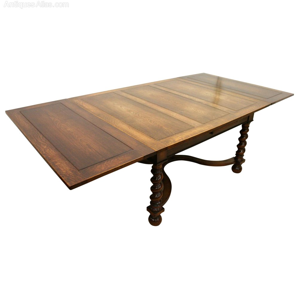 Jacobean Style Oak Pull Out Dining Table Antiques Atlas