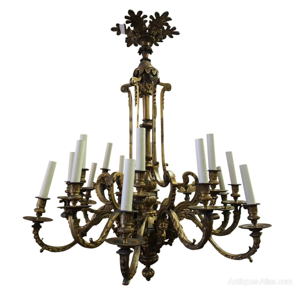 Antiques atlas late victorian cast brass chandelier late victorian cast brass chandelier mozeypictures Image collections