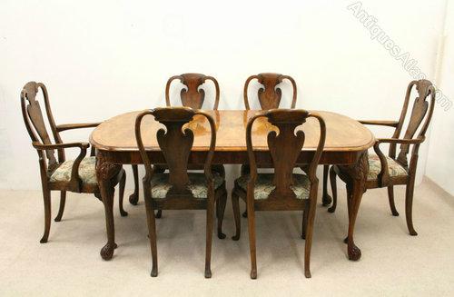 Maple Co Burr Walnut 9 Piece Dining Room Suite Antiques Atlas