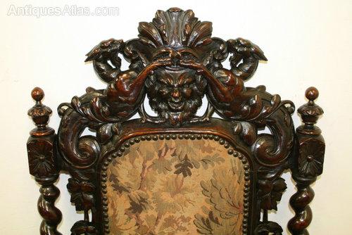 Mid Victorian Walnut Throne Chair Antique Throne, Ceremonial and Trophy  Chairs ... - Mid Victorian Walnut Throne Chair - Antiques Atlas