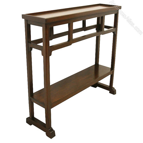 Narrow mahogany side table hall table antiques atlas for Long narrow side table