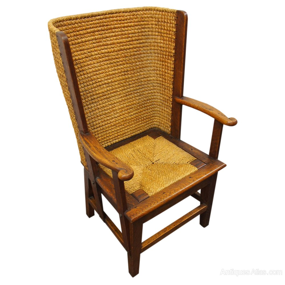 Neat Oak Orkney Chair Antique ... - Neat Oak Orkney Chair - Antiques Atlas