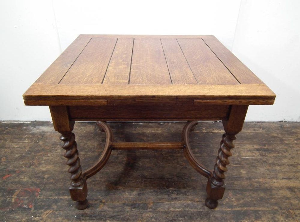 Oak Pull Out Dining Table - Antiques Atlas