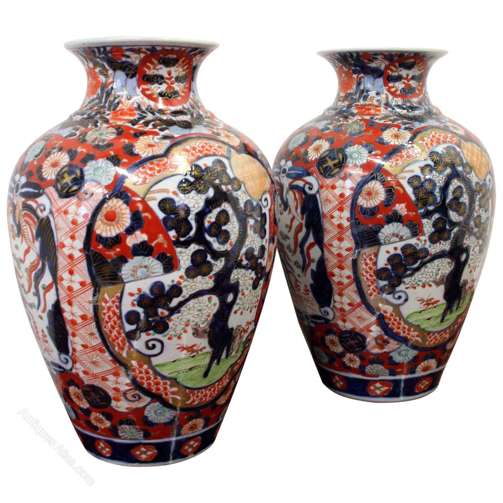 Antiques atlas pair of japanese imari vases pair of japanese imari vases reviewsmspy