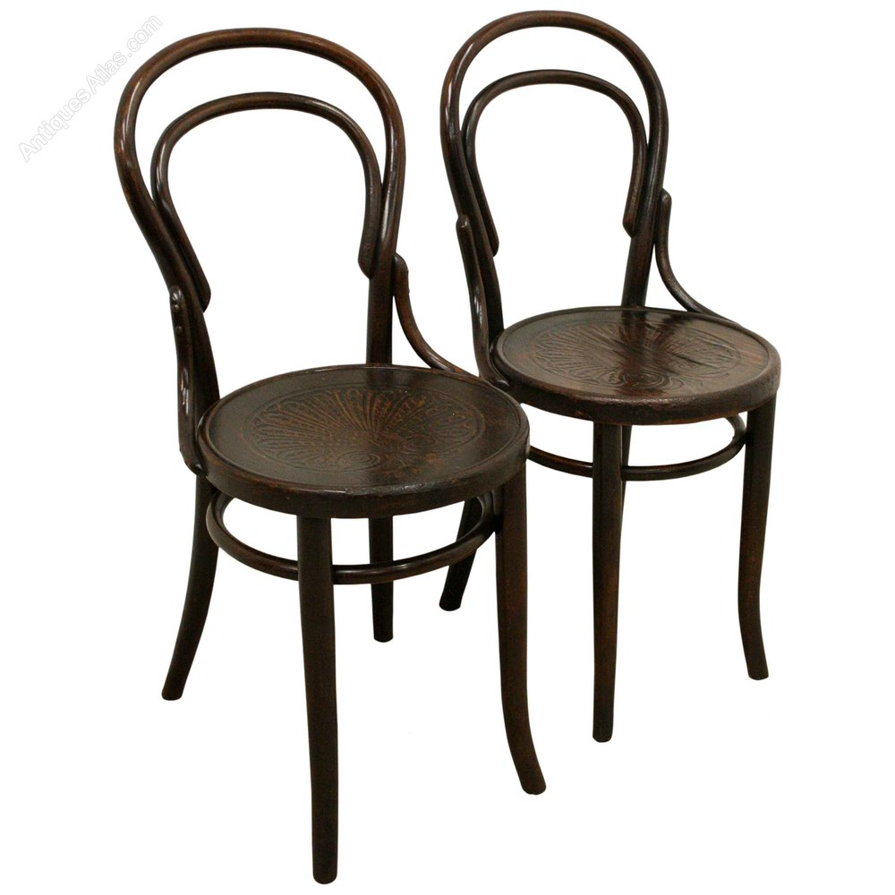 Bon Pair Of Thonet Bentwood Chairs Antique ...