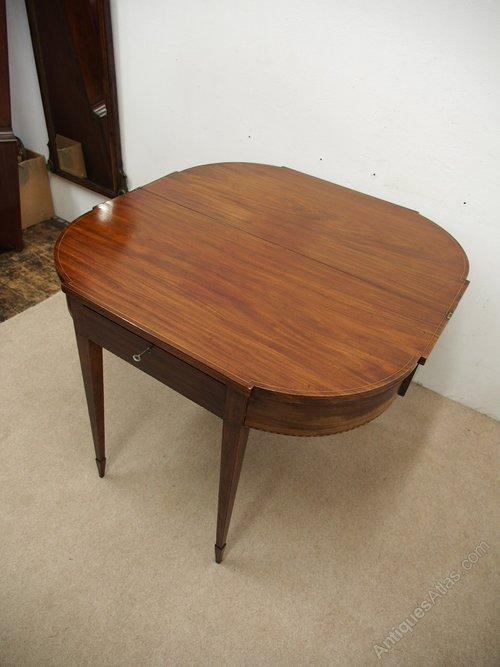 scottish inlaid mahogany foldover table antiques atlas