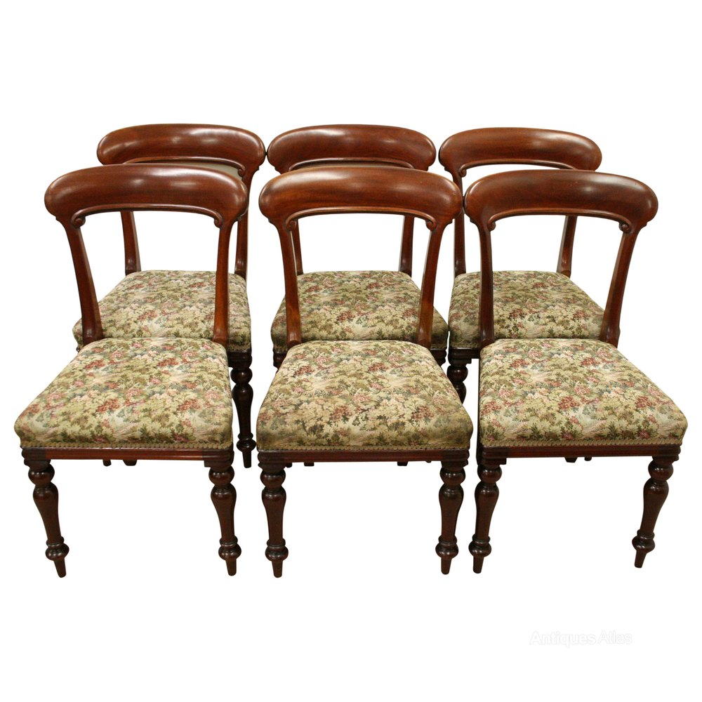 Set Of 6 Scottish Victorian Dining Chairs Antique