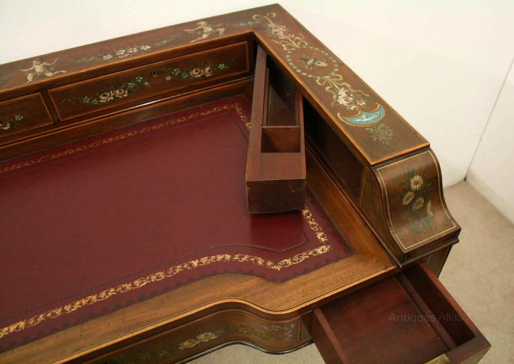 Sheraton Style Ladies Writing Table Antiques Atlas