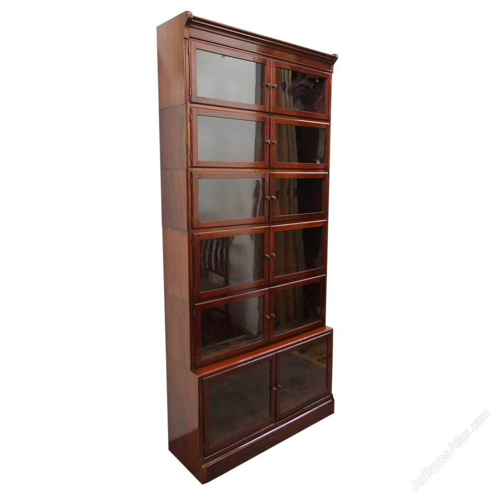 Unusual Tall Mahogany Sectional Bookcase Antiques Atlas