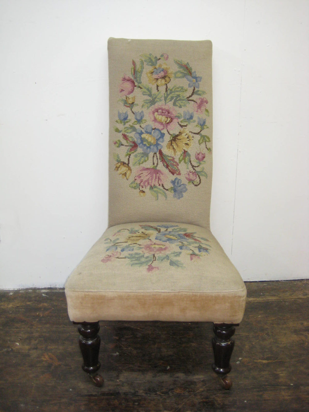 Victorian Nursing Chair with Needlepoint Antique Nursing Chairs Victorian  mahogany needlepoint - Victorian Nursing Chair With Needlepoint - Antiques Atlas