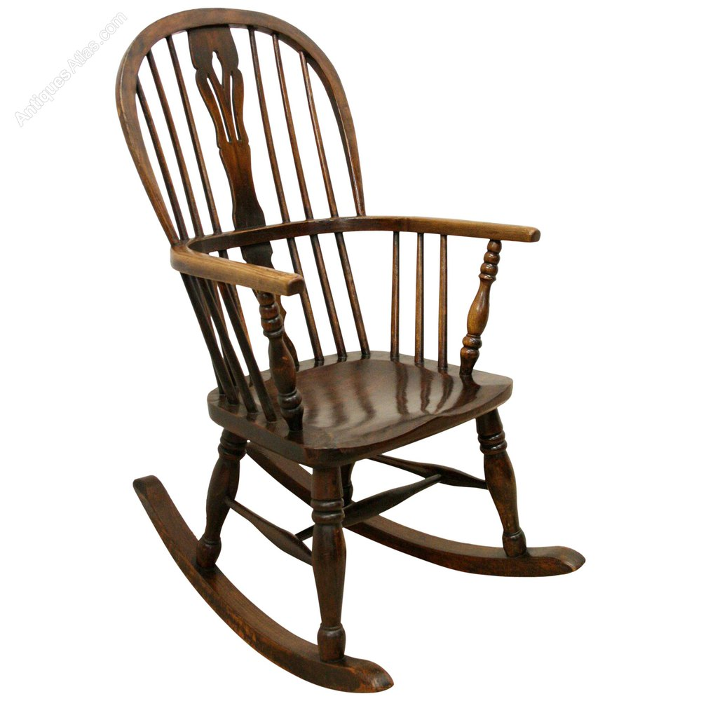 Victorian Windsor Rocking Chair Antique ... - Victorian Windsor Rocking Chair - Antiques Atlas