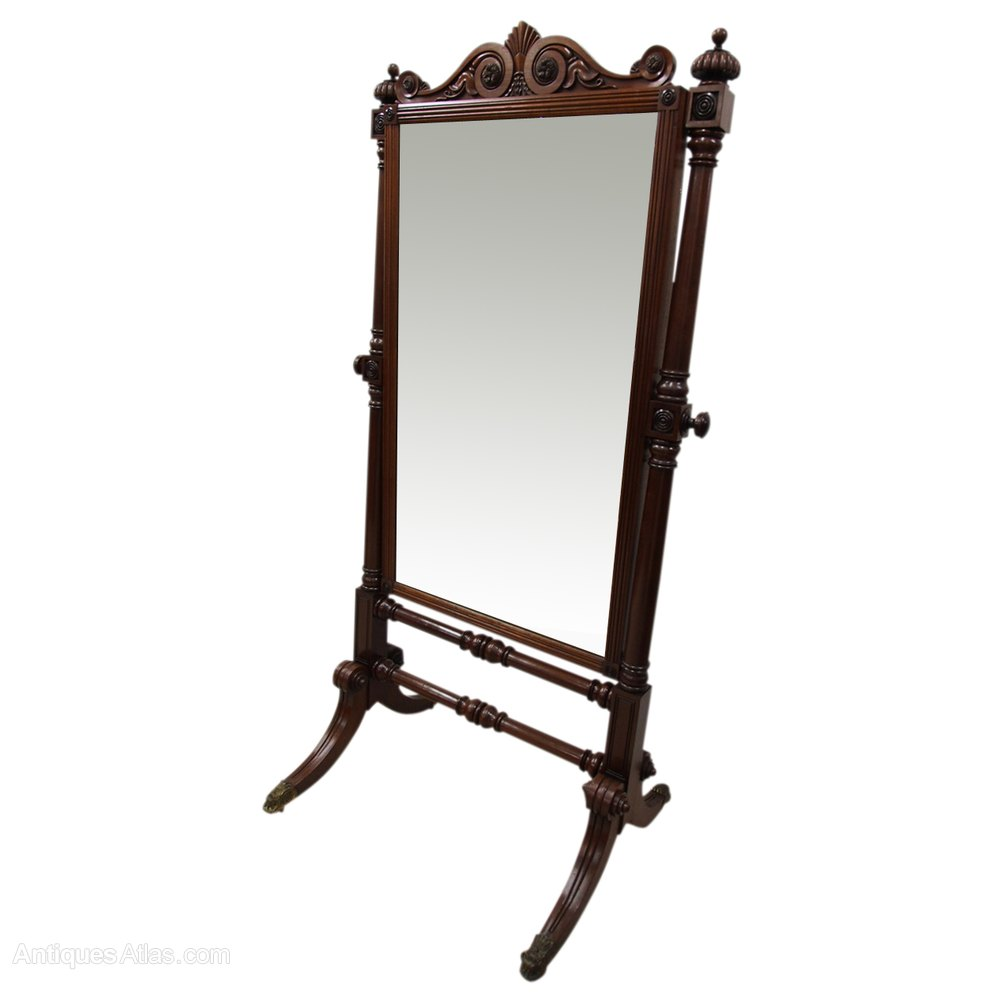 Antiques atlas william iv carved mahogany cheval mirror for Cheval mirror