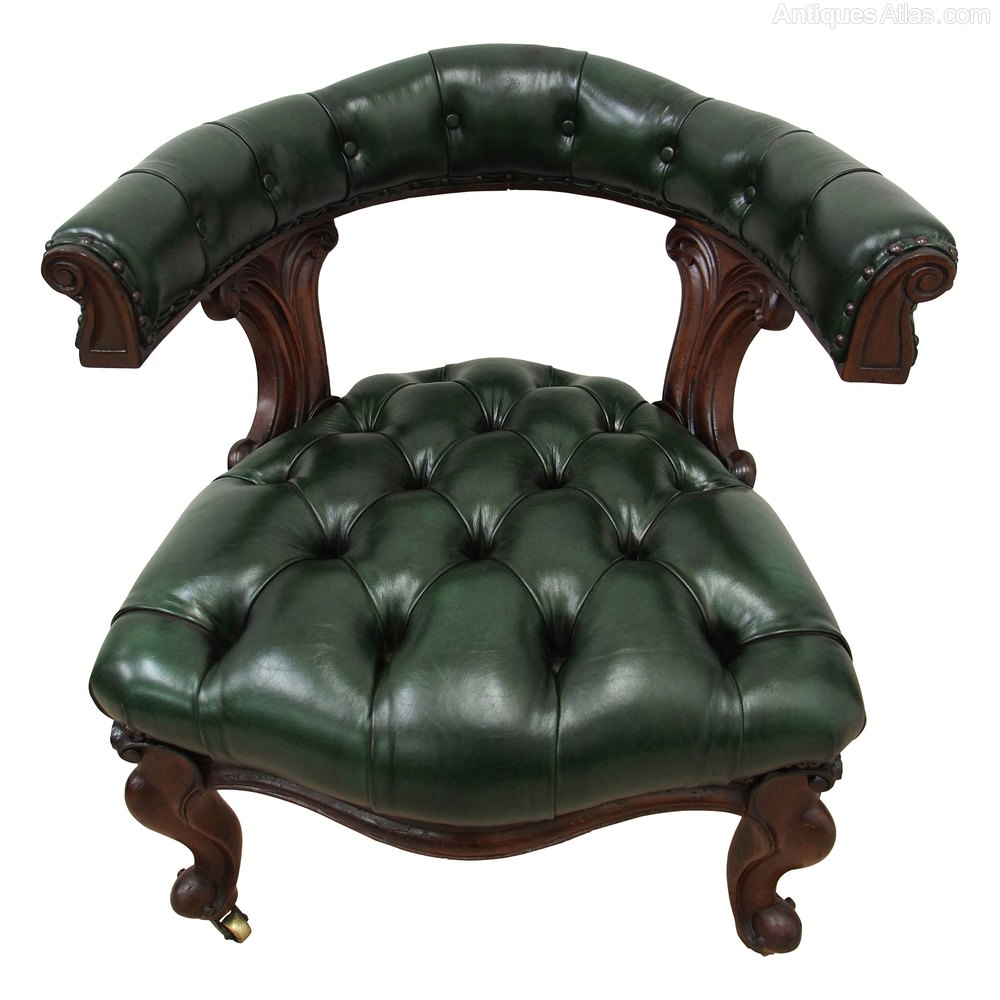 william iv green leather captains chair antiques atlas