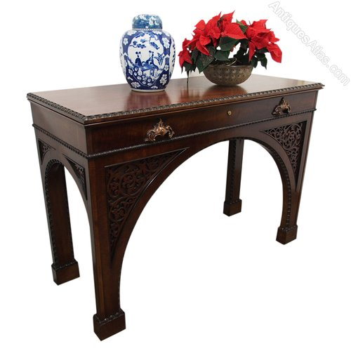mahogany hall table. william iv mahogany hall table or serving