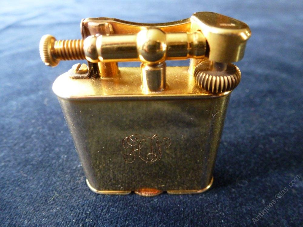 Antiques Atlas - 9ct Solid Gold Dunhill Cigarette Lighter.
